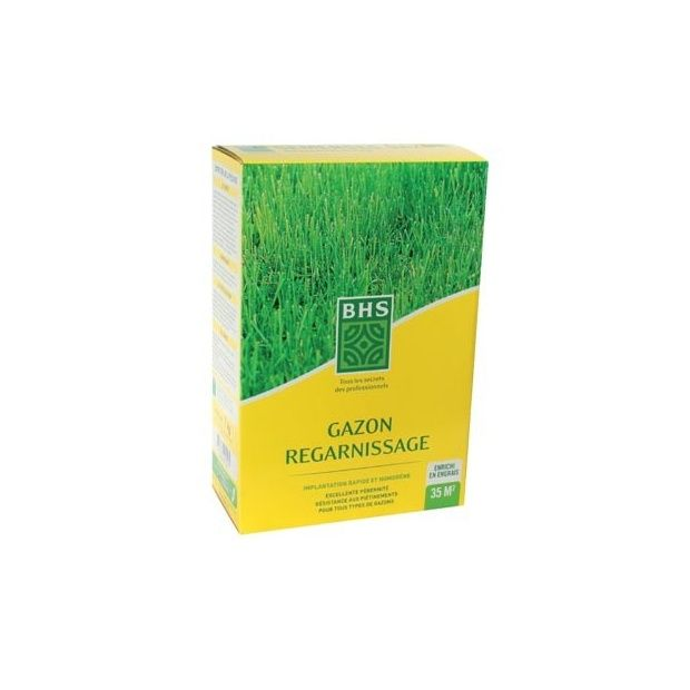 Gazon semence de regarnissage 1kg bhs boite de 1 kg - Gazon de regarnissage ...