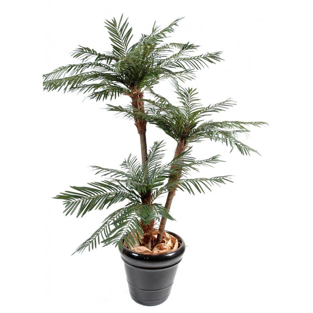Palmier 3 Troncs H200cm (tronc semi naturel, feuillage artificiel) non rempoté