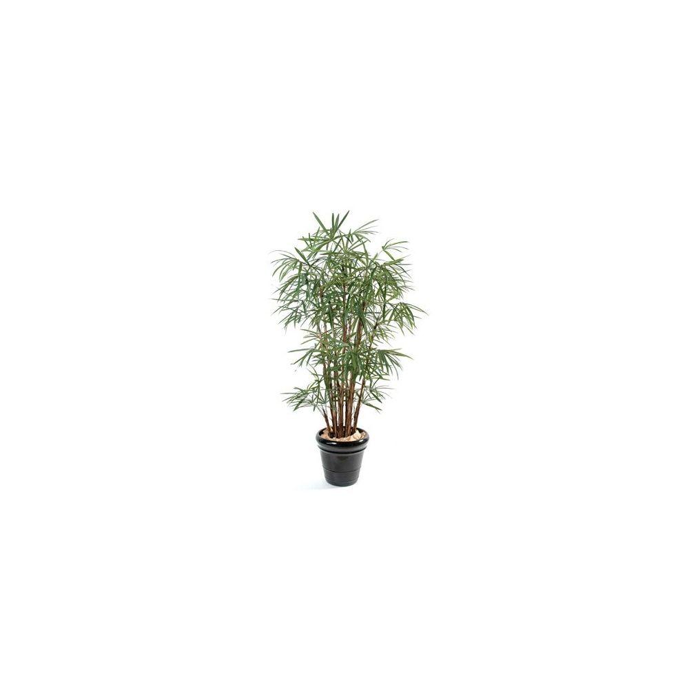 Palmier Raphis Lady Palm H150cm (tronc naturel, feuillage artificiel) pot classique