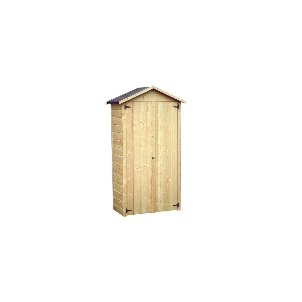 Armoire de jardin bois Arbae L105.5 H189 cm Ep.12 mm