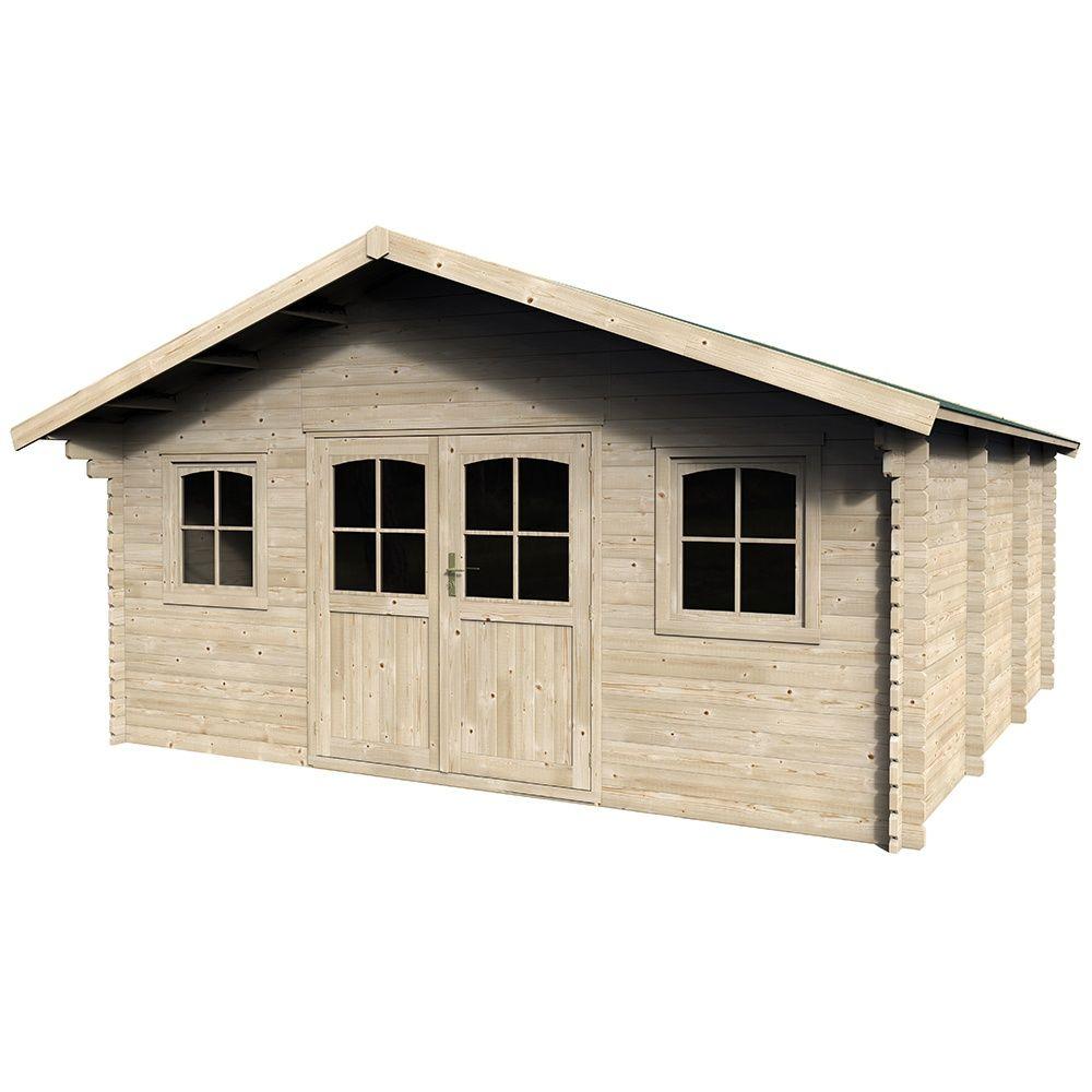 6ee8b4d67071b8 Abri de jardin bois 27,66 m² Ep. 34 mm Valograde 1 palette L 210 cm ...