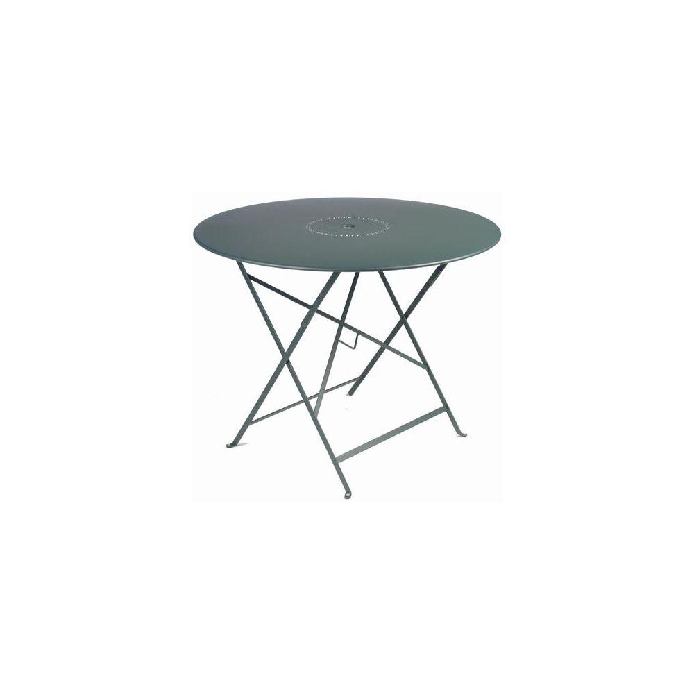 Table pliante D 96 cm Floréal cèdre avec trou parasol Fermob ...