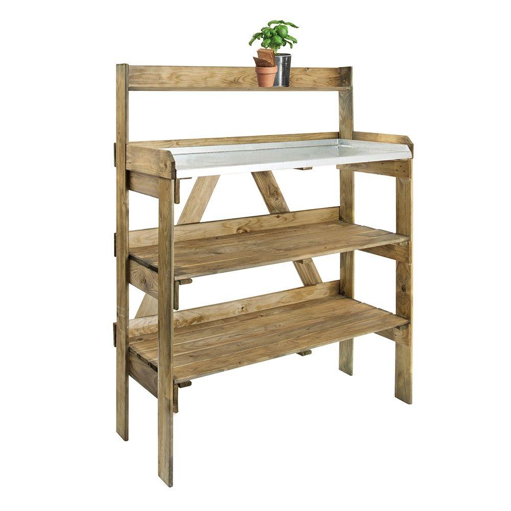 table de pr paration avec tag res pour serres carton gamm vert. Black Bedroom Furniture Sets. Home Design Ideas