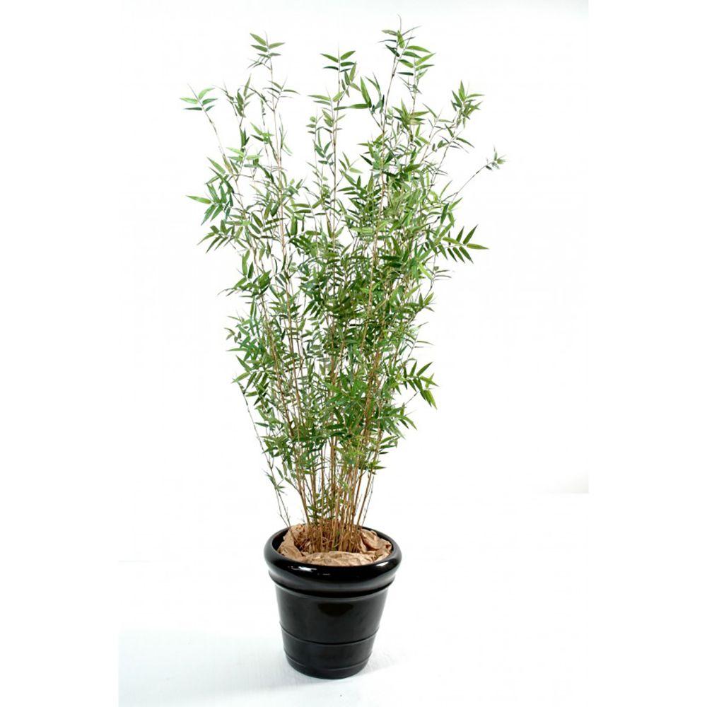 Bambou oriental multi-chaumes H190cm (chaumes naturels, feuillage artificiel) non rempoté