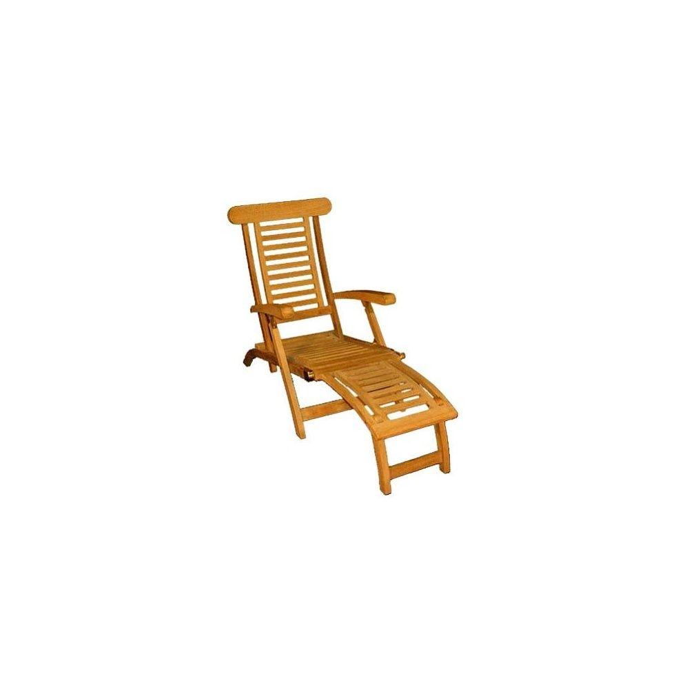 Chaise longue en Teck Carton 131 x 61 x 22 cm - Gamm Vert