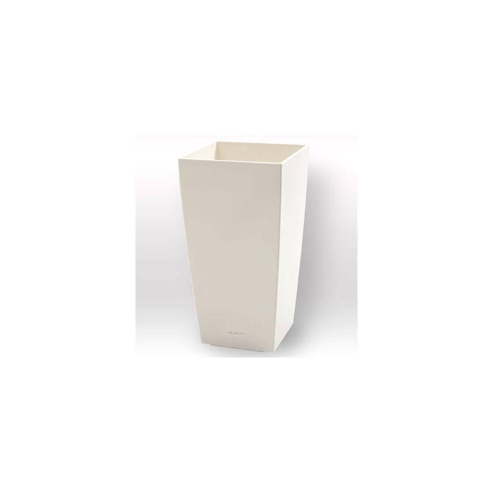cache pot cubico blanc c t 30 cm x hauteur 56cm lechuza carton gamm vert. Black Bedroom Furniture Sets. Home Design Ideas