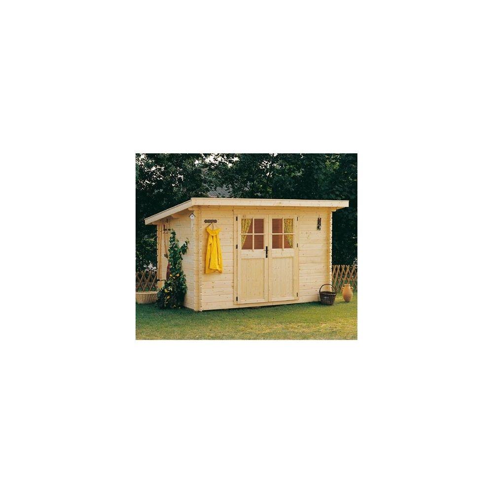 abri de jardin en bois 28 mm utah m hors tout avec plancher 2 colis x x 0. Black Bedroom Furniture Sets. Home Design Ideas