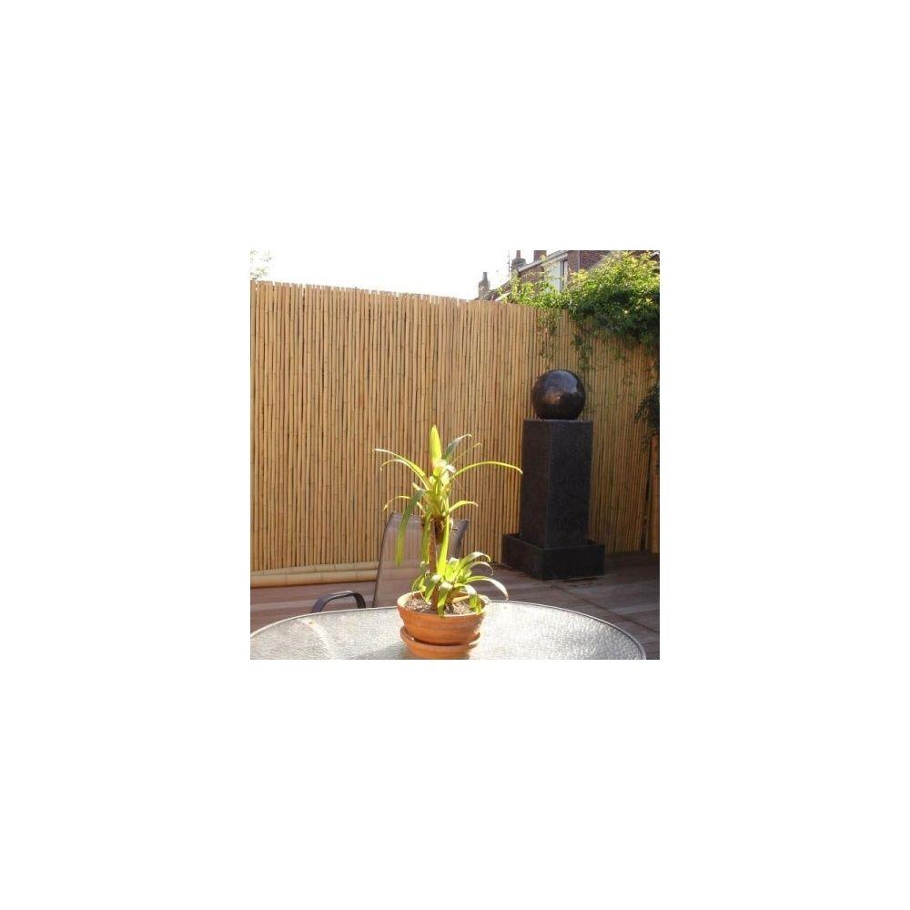 cache vue en bambou l200xh180cm pour cl ture ou occultation rouleau gamm vert. Black Bedroom Furniture Sets. Home Design Ideas