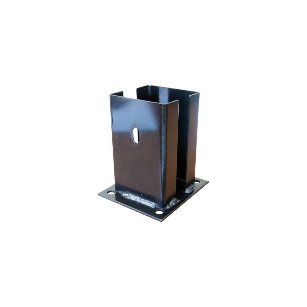 support visser acier galvanis pour poteau en pin gamme. Black Bedroom Furniture Sets. Home Design Ideas