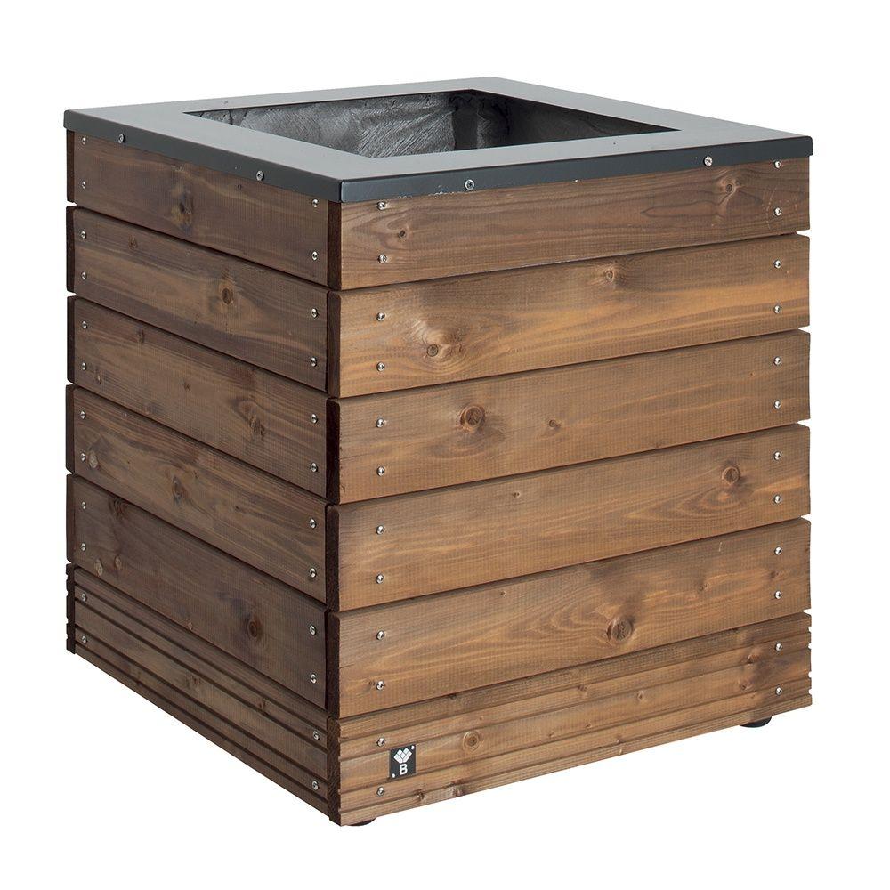 bac fleurs bois trait autoclave acier l45 h47 5 cm. Black Bedroom Furniture Sets. Home Design Ideas