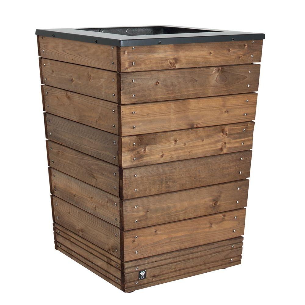 bac fleurs bois trait autoclave acier l55 h76 cm. Black Bedroom Furniture Sets. Home Design Ideas