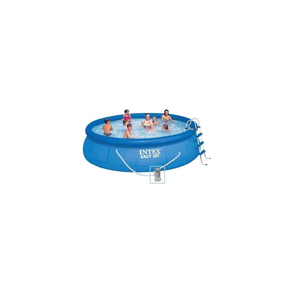 Kit piscine autoportante easy set intex d 4 88 m x h 1 for Piscine autoportante easy set