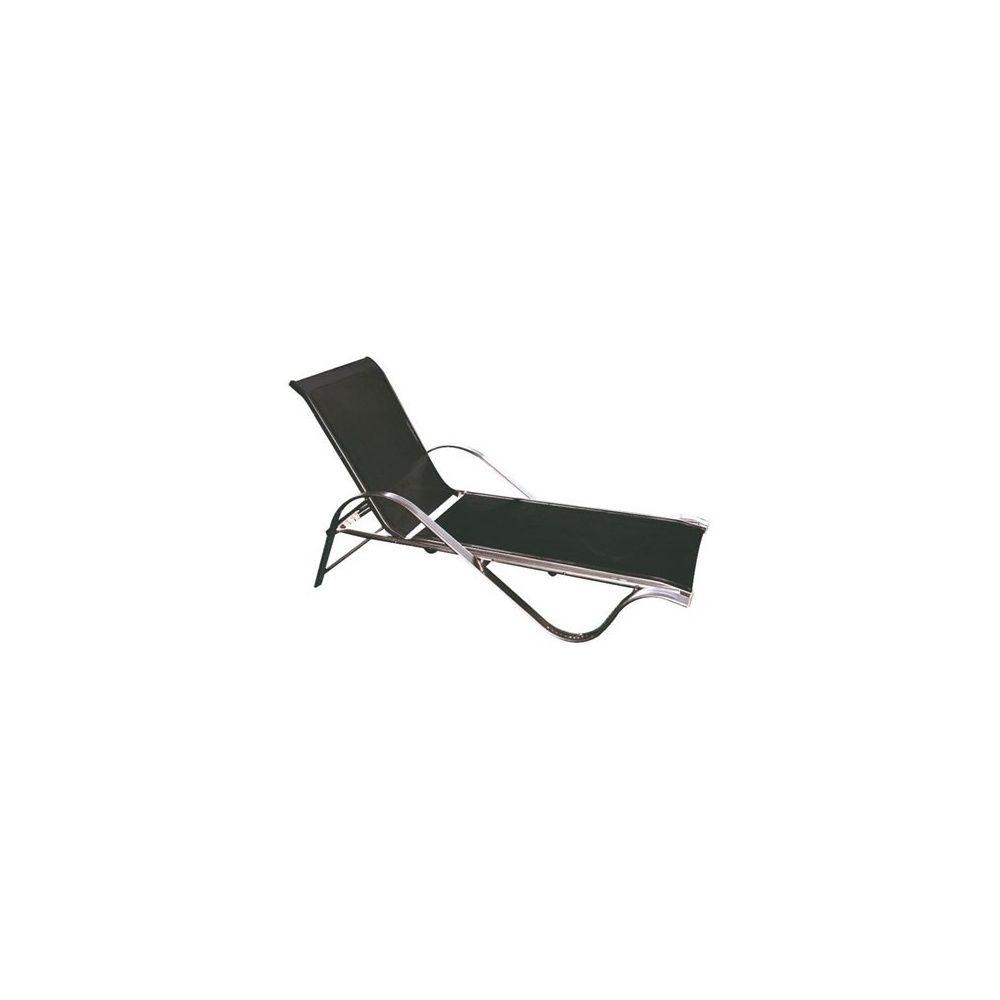 bain de soleil 4 positions en aluminium et textilène noir- dream