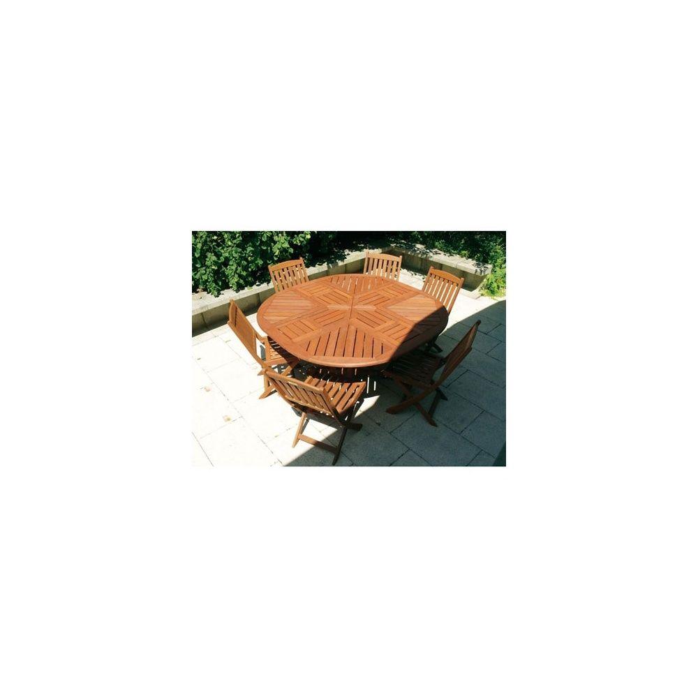 Table à rallonges en bois Keruing Diam 120 cm/ 150 x 75 cm- Dream ...