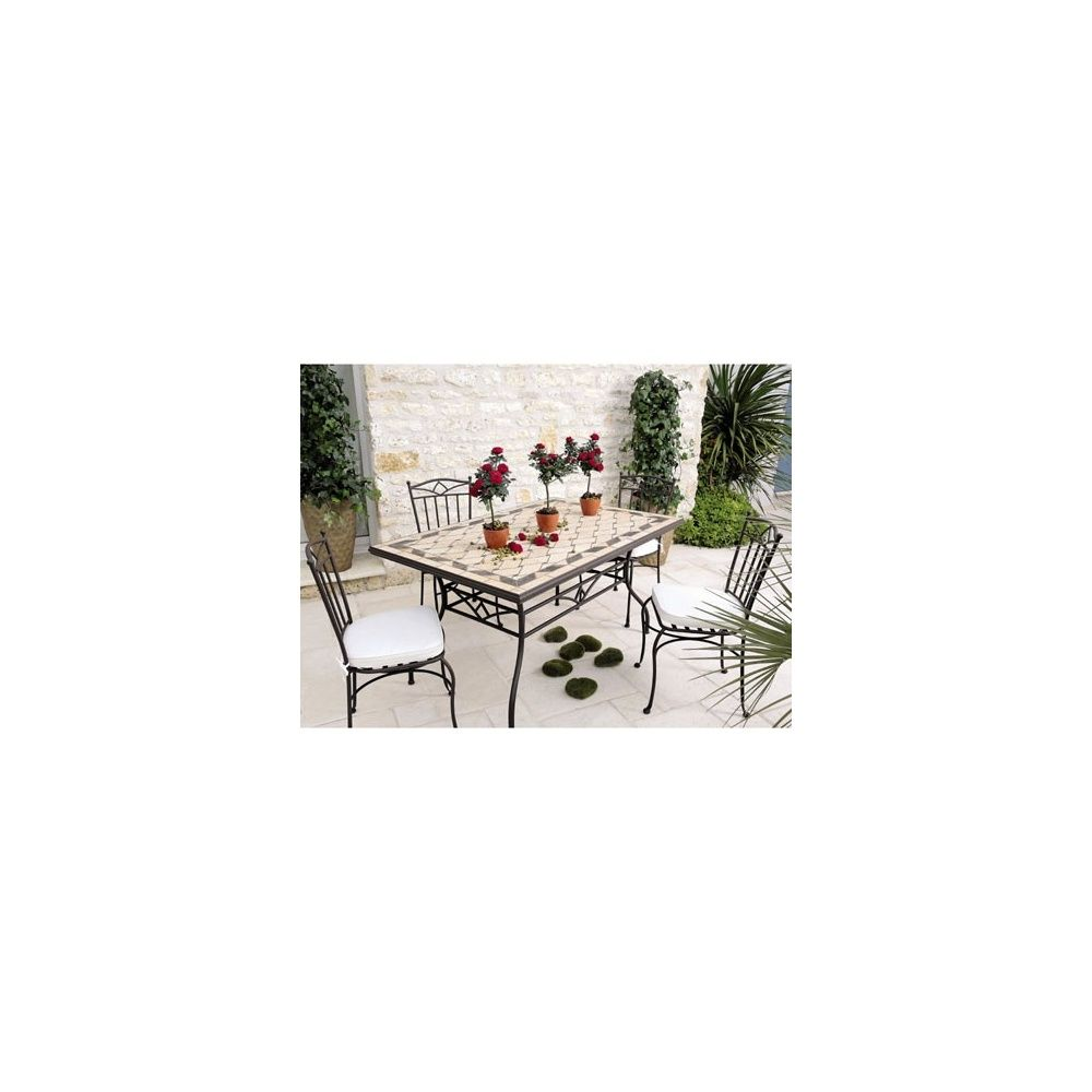 Emejing table de jardin mosaique de marbre contemporary for Jardin de toscane