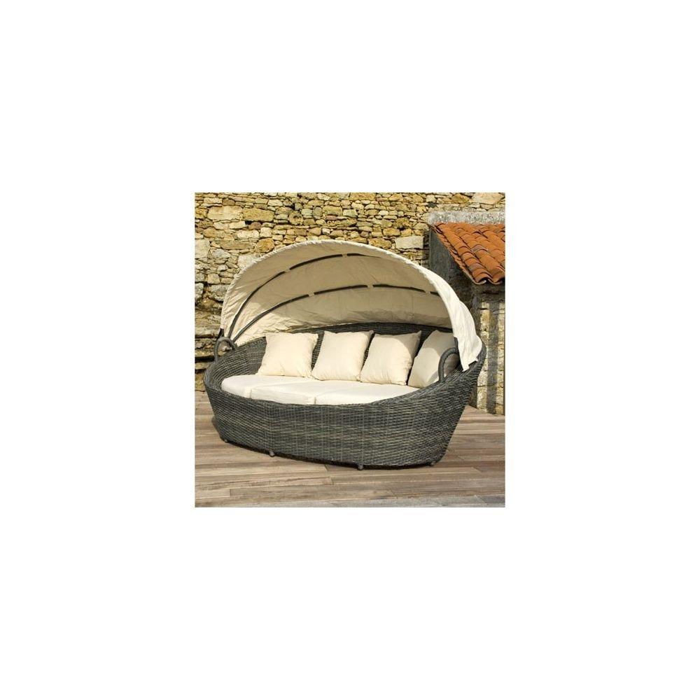 lit de jardin ovale avec toit en toile eden - Lit De Jardin