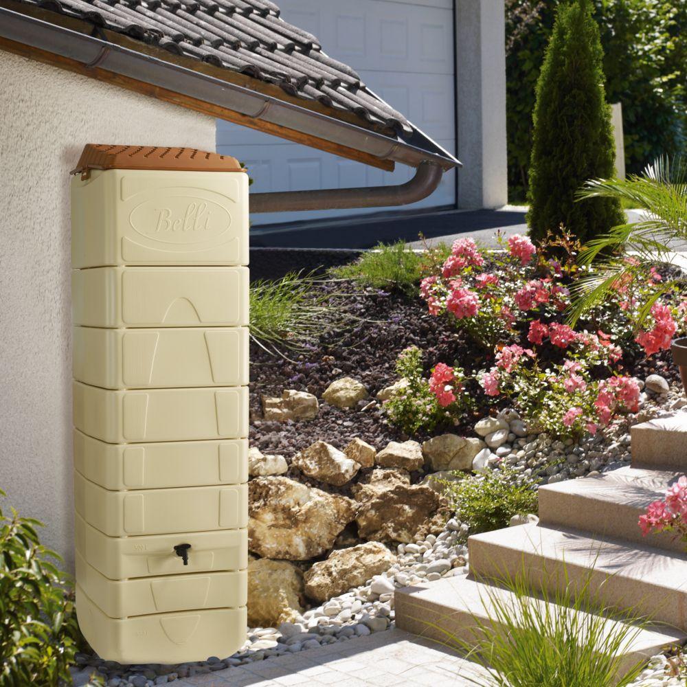 Récupérateur d'eau mural BELLIJARDIN  beige 650 L