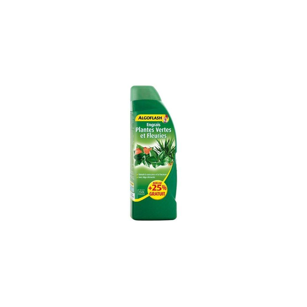Engrais plantes vertes et fleuries 800ml 25 gratuit algoflash flacon de 1l gamm vert - Engrais plante verte ...
