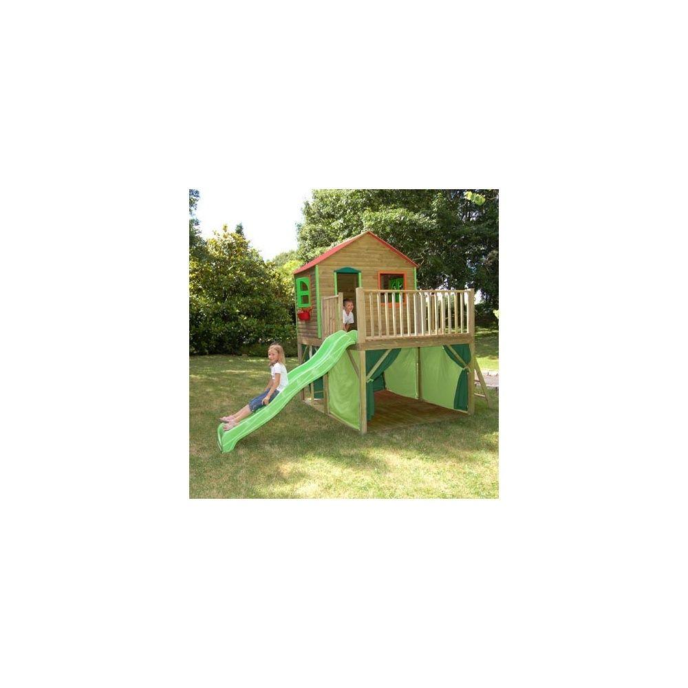 maisonnette pour enfants avec cabane et toboggan fanfan soulet 1 palette de 240 x 80 x 135cm. Black Bedroom Furniture Sets. Home Design Ideas