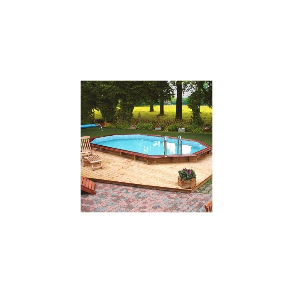 Piscine Confort 350 X 500 Margelle Sapin Rouge Bear County