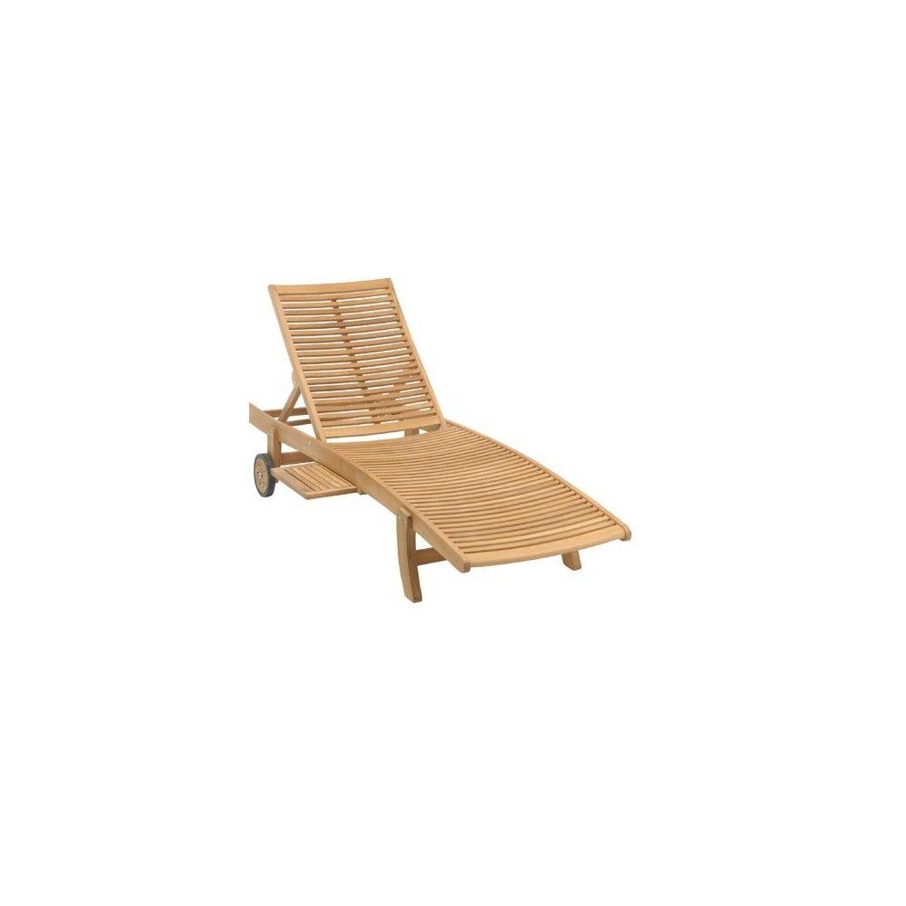 chaise longue en teck fsc lake moraine 1 colis 199 x 65 x. Black Bedroom Furniture Sets. Home Design Ideas