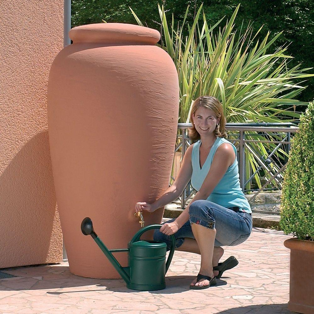 Récupérateur d'eau GARANTIA Amphore 300L terracotta