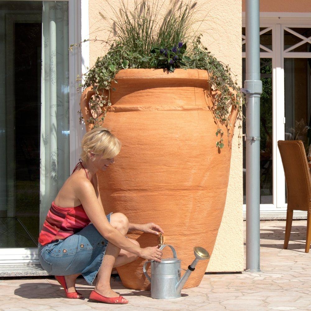 Récupérateur d'eau GARANTIA Amphore Antik 360 L Terracotta