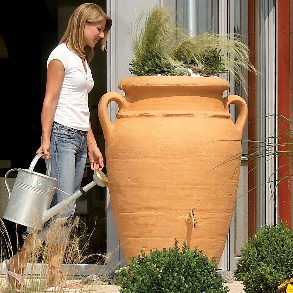 Récupérateur d'eau GARANTIA Amphore 250 L Antik Sable