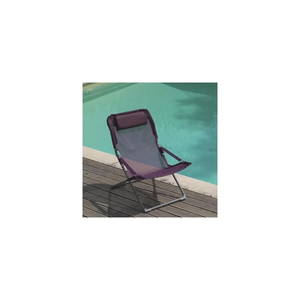 fauteuil relax pliant et rglable fuchsia - Fauteuil Pliant Relax