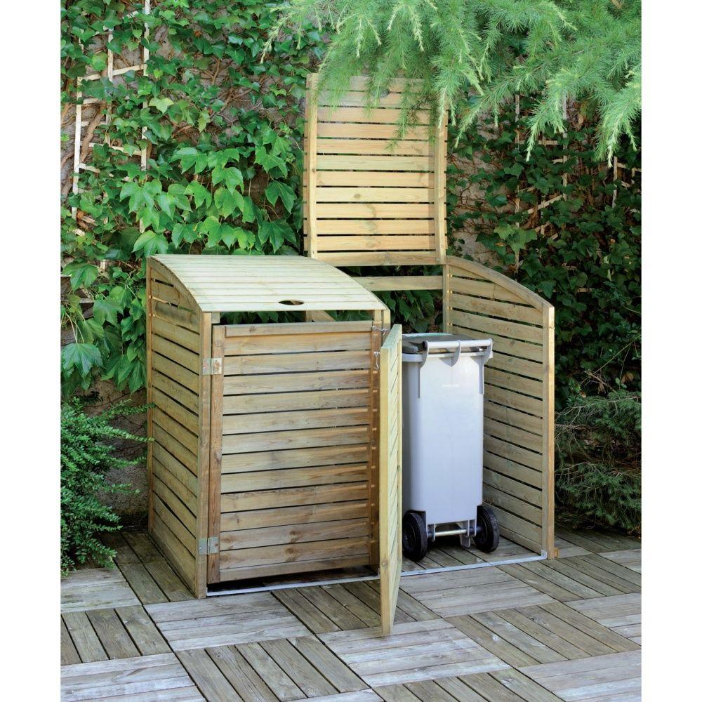 Cache-poubelles bois traité Garden Double L150 H125 cm