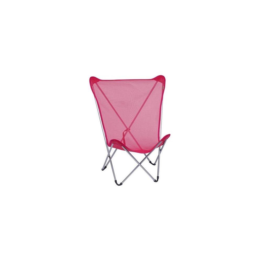 fauteuil pliant framboise maxi pop up lafuma - Fauteuil Pliant Lafuma