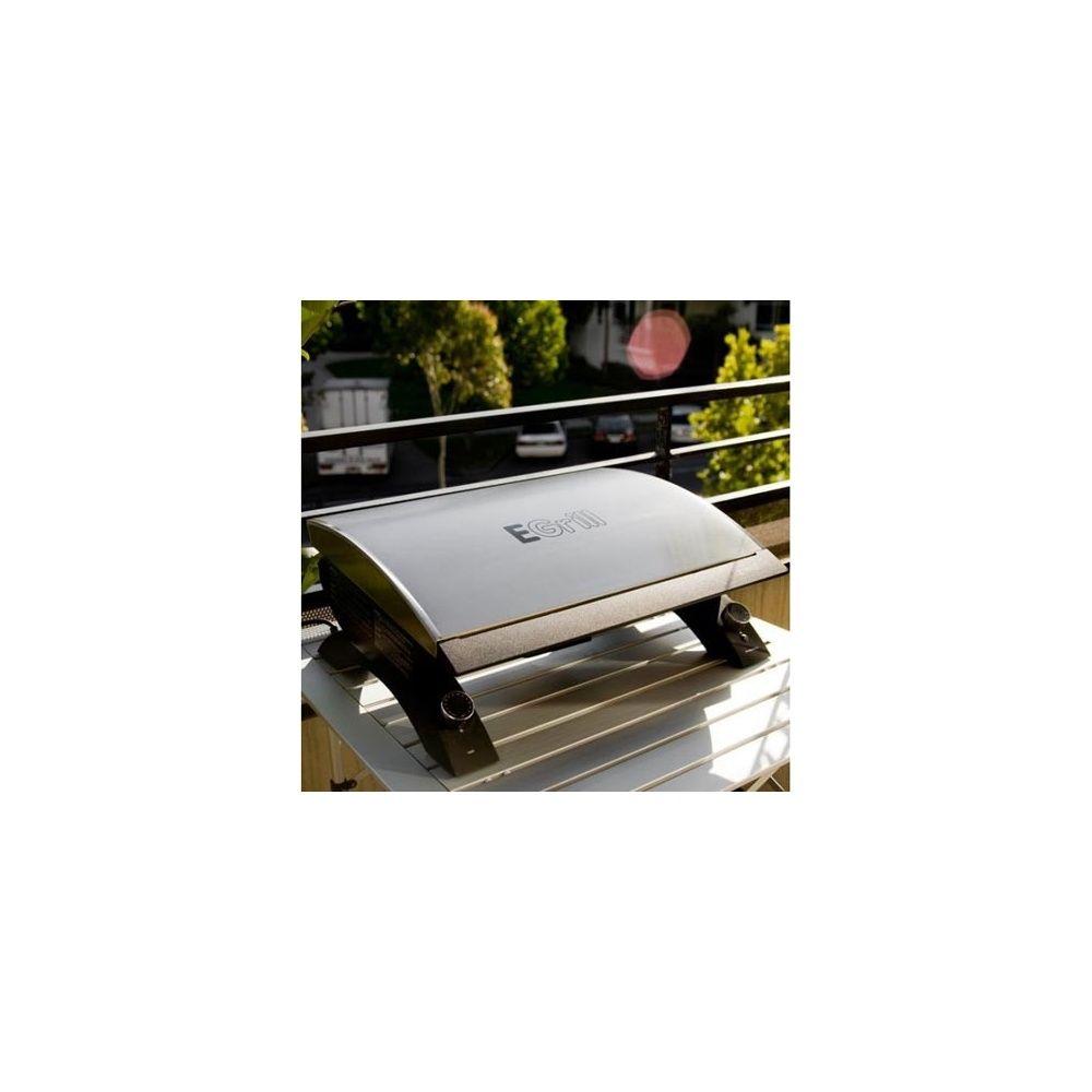 barbecue électrique grandhall - e-grill - plancha 2 tubes halogènes