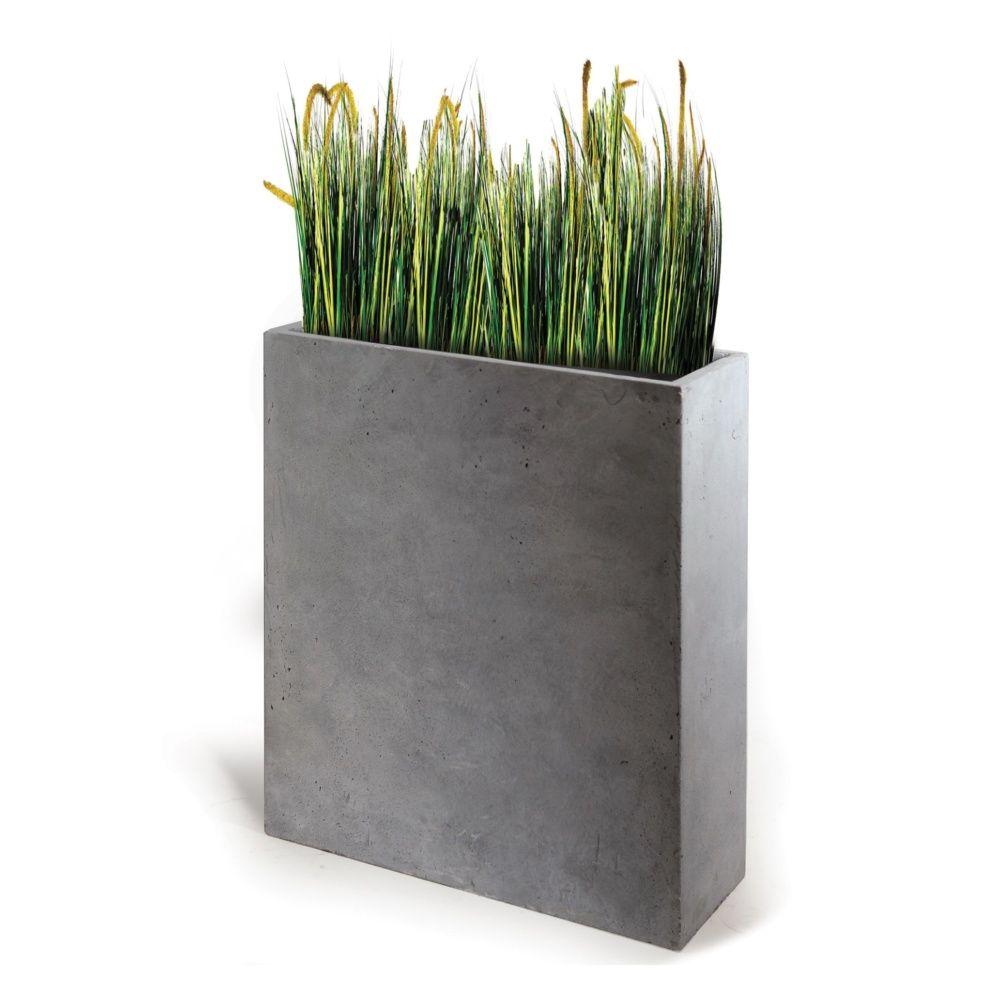 bac fleurs fibre de terre clayfibre l80 h92 cm gris l80 x l30 x h92 cm gamm vert. Black Bedroom Furniture Sets. Home Design Ideas