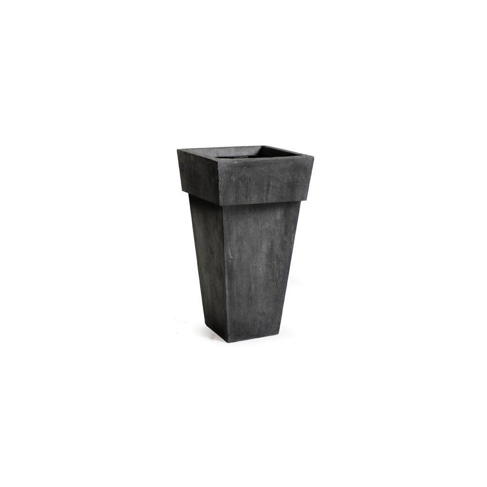 pot carr haut 159 litres 41 x hauteur 90 cm fibre de terre noir c t 41 cm hauteur 90 cm. Black Bedroom Furniture Sets. Home Design Ideas