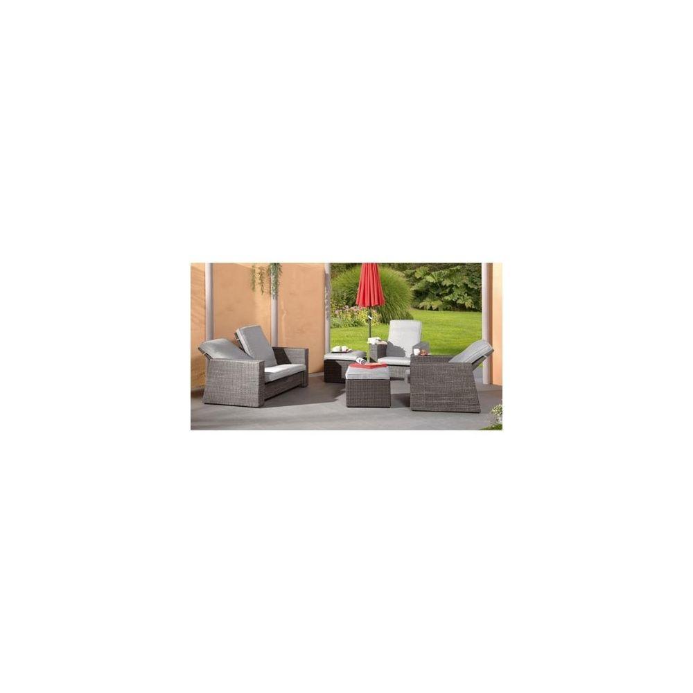 Salon De Jardin Bilbao Avec Dossiers Inclinables Canapé - Canape et deux fauteuils