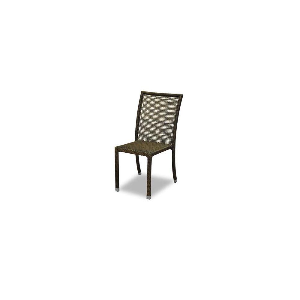 Chaise de jardin salsao en r sine tress e marron metis 1 for Jardin de metis 2016