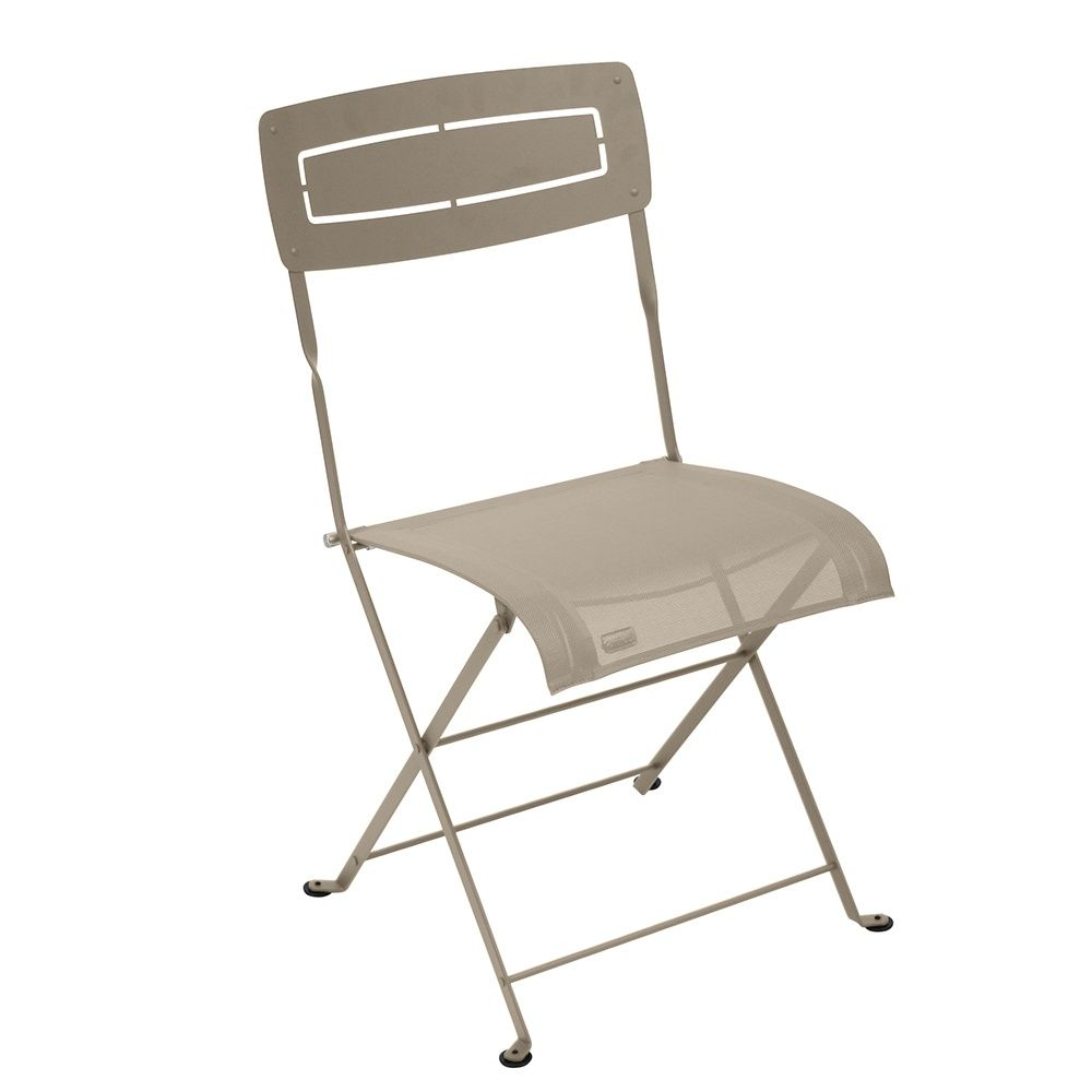 Chaise pliante Fermob Slim acier/textilène muscade