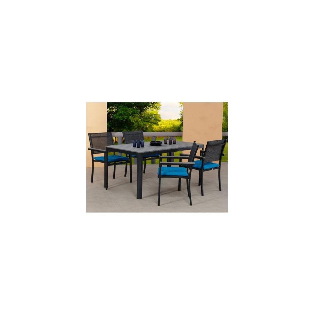 Salon de jardin sao paulo table en polywood 160cm 4 - Salon de jardin aluminium magasin vert ...