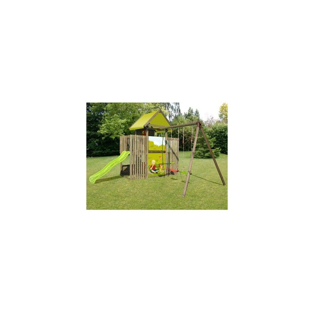 portique station de jeux p 39 tit chatenay avec balan oire toboggan tour cabane 1 palette. Black Bedroom Furniture Sets. Home Design Ideas