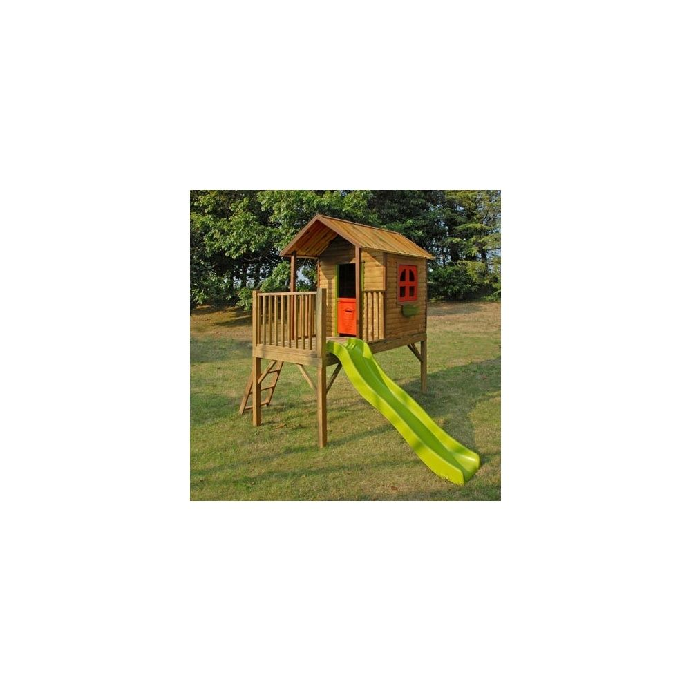 maisonnette pour enfants avec cabane et toboggan praline soulet 1 palette de 230 x 55 x. Black Bedroom Furniture Sets. Home Design Ideas