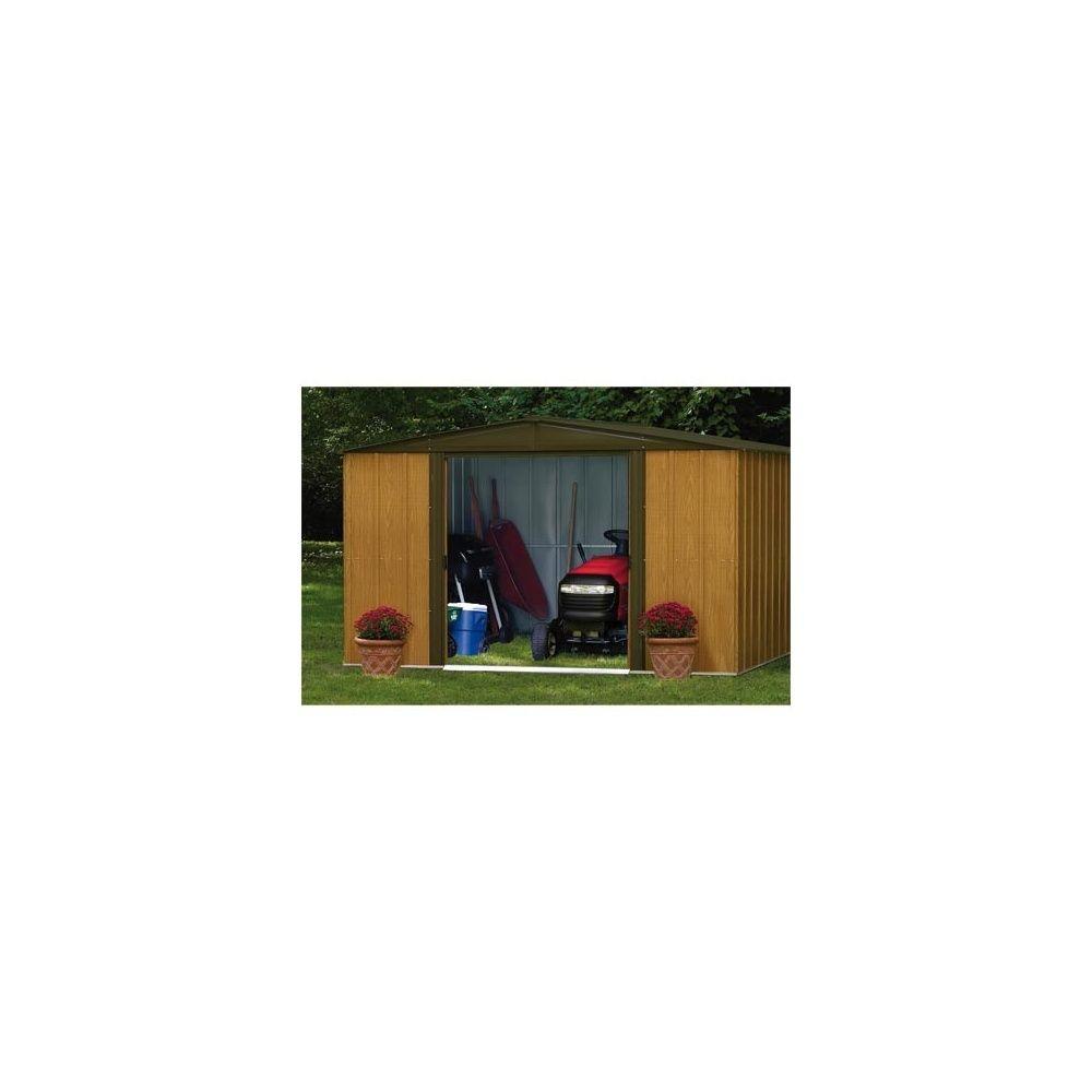 abri en acier galvanis imitation bois de 9 30 m hors. Black Bedroom Furniture Sets. Home Design Ideas