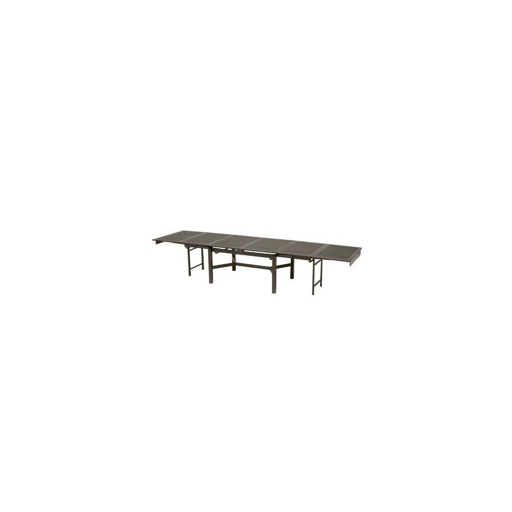 Table de jardin extensible en acier 140 + 260 x 110 x 78 cm ...