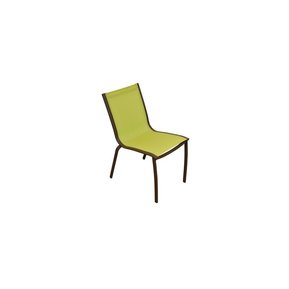 chaise de jardin empilable linea en aluminium et textil ne citron vert 1 carton 82 x 57 x 59. Black Bedroom Furniture Sets. Home Design Ideas
