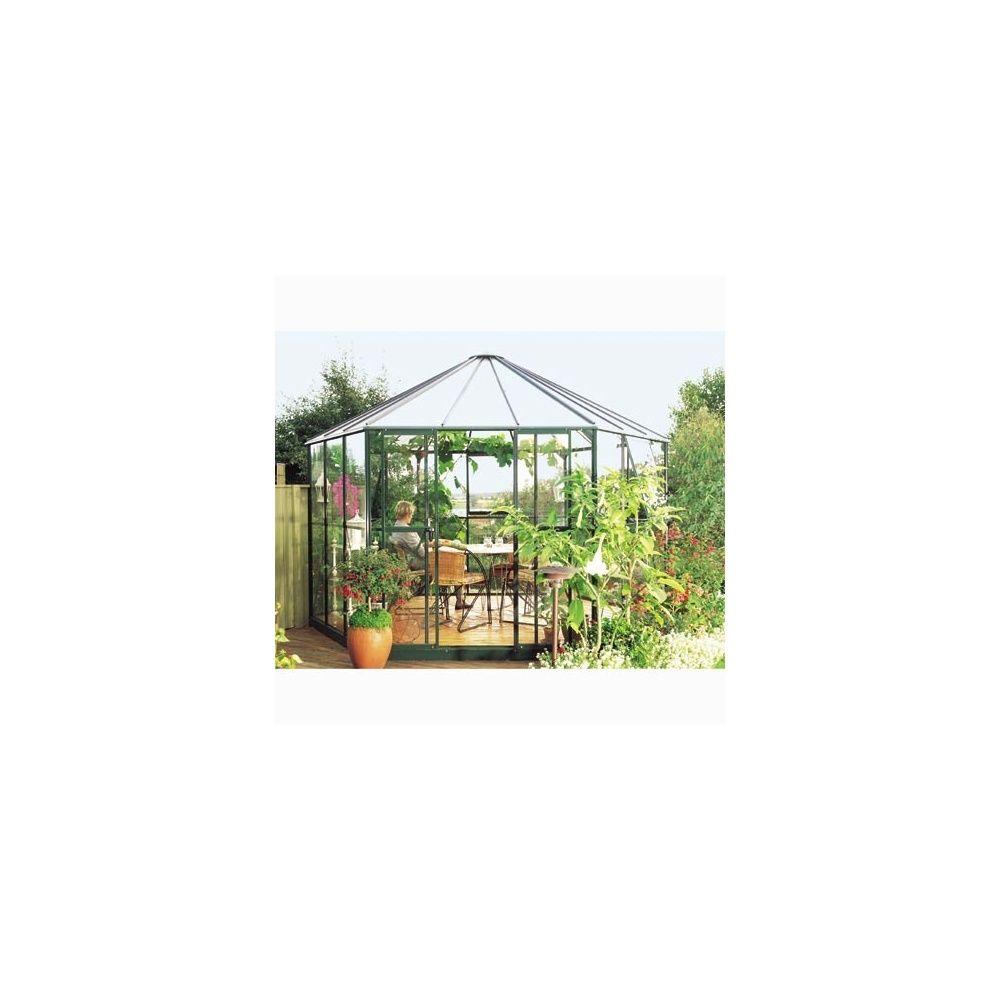 Serre de jardin Hexagonale - Hera 9m2 - verre horticole 4mm - LAMS 4 ...
