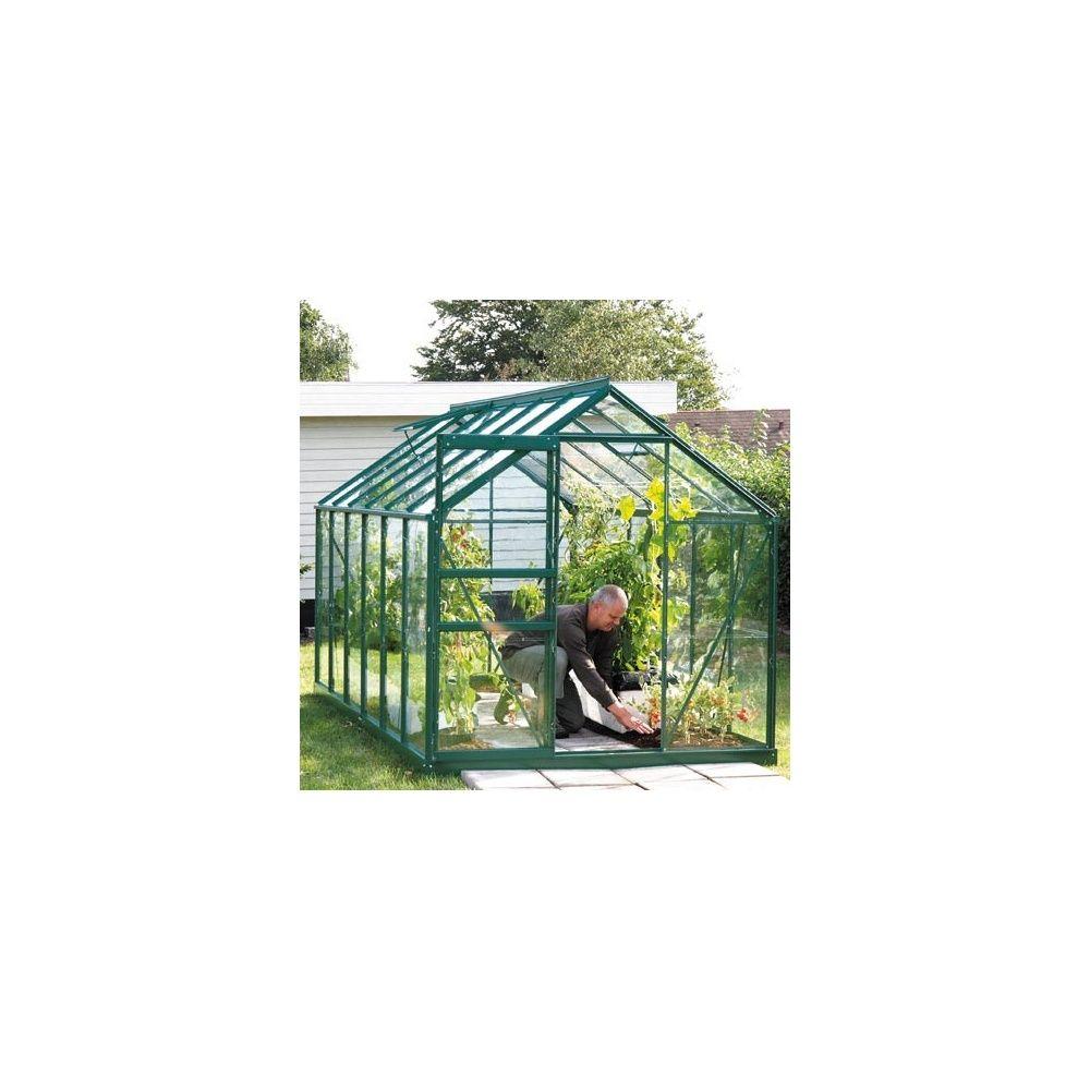Serre de jardin Venus 7,50m2 - verre horticole 3mm - LAMS 2 cartons ...