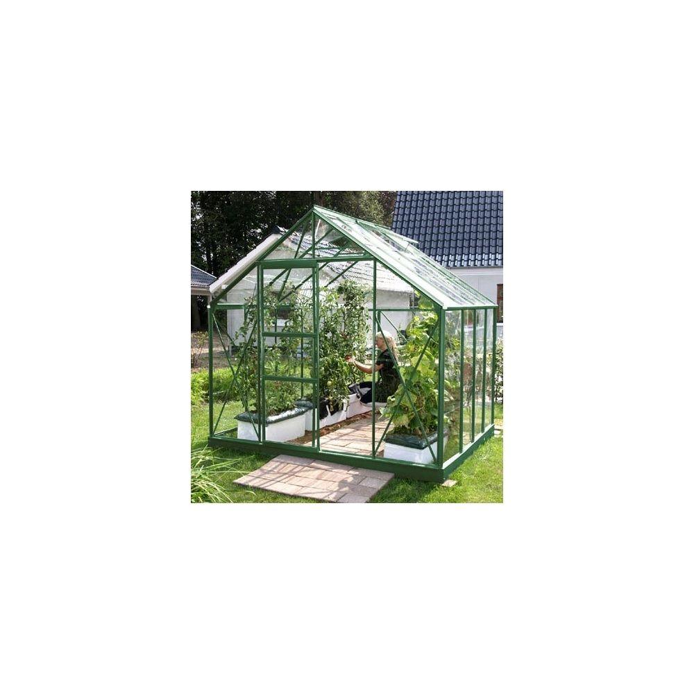 Serre de jardin Merkur 6,70m2 - verre horticole 3mm - LAMS 4 cartons ...