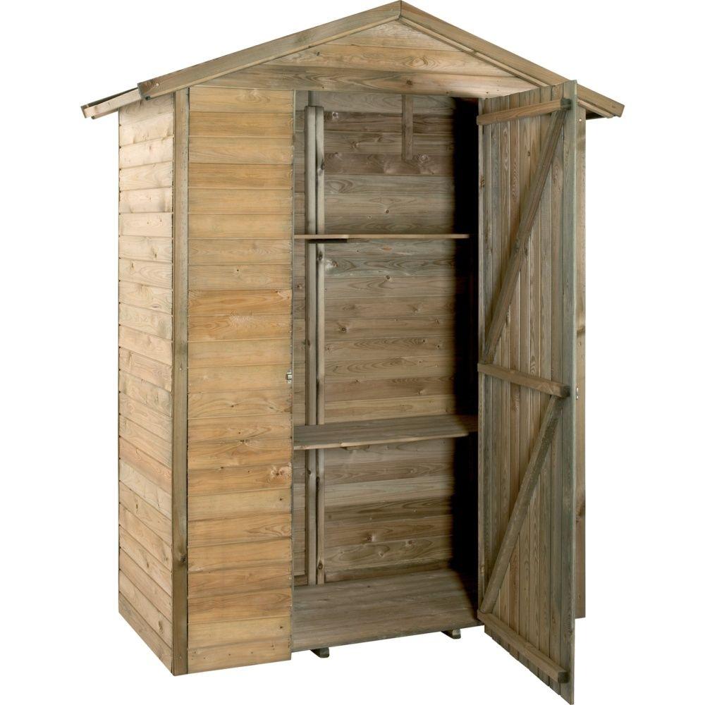 armoire de jardin bois trait merina l175 h215 cm colis. Black Bedroom Furniture Sets. Home Design Ideas