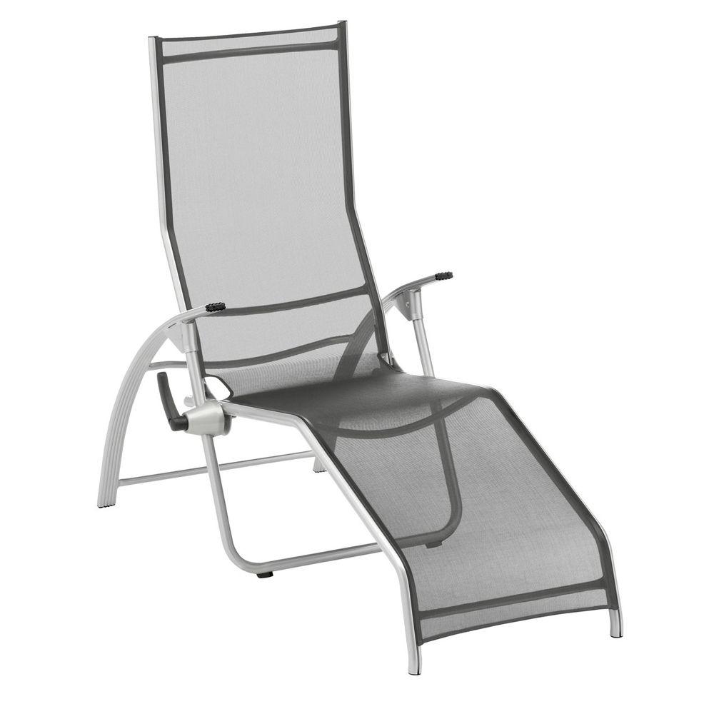 Chaise longue tampa kettler aluminium textil ne argent for Chaise kettler