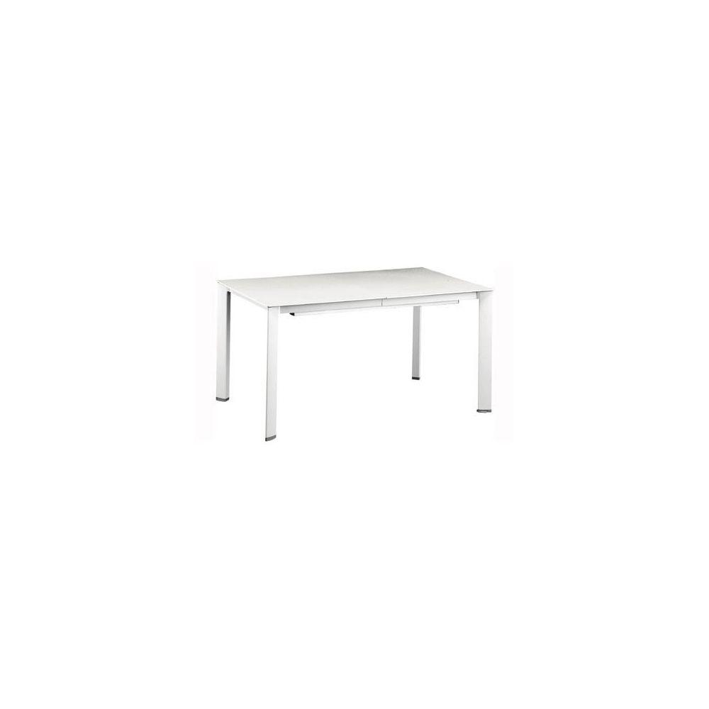 Table extensible loft 160 220 280 x 95 cm blanc for Table extensible 280 cm