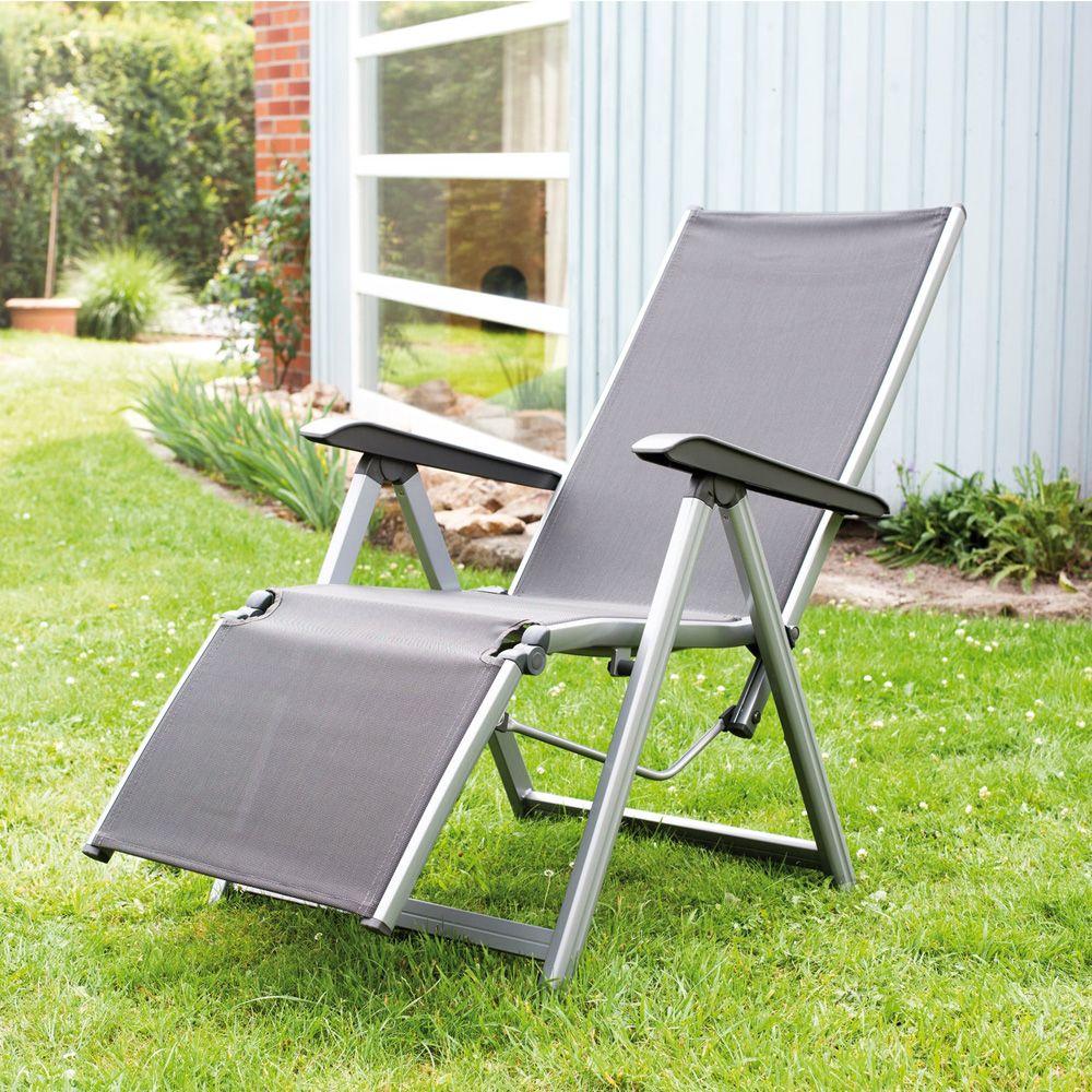 fauteuil relax basic plus kettler argent anthracite 1 colis 92 x 62 x 22 cm gamm vert. Black Bedroom Furniture Sets. Home Design Ideas